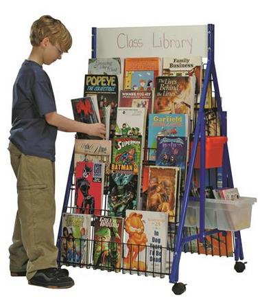 Copernicus Reading Resource Station 2-sided with 4 leveled tubs