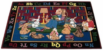 Reading Rocks Educational Carpet 10'9 x 13'2