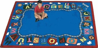 Reading Train School Rug 5'4 x 7'8