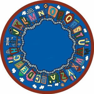 Reading Train School Rug 7'7 Round