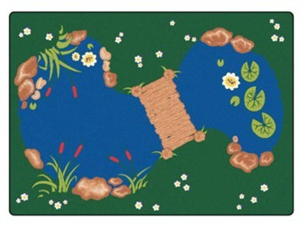 Rectangle Classroom Pond Rug 4'5 x 5'10