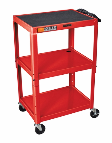 Red Adjustable Utility Cart