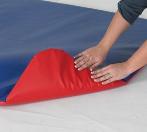 Red/Blue Floor Mat for Play Yard