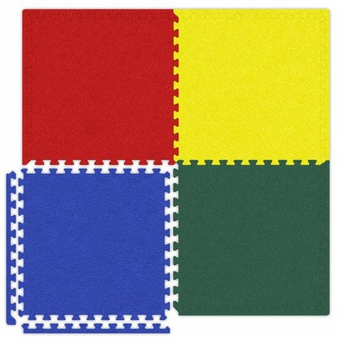 Red Blue Yellow Green Interlocking Soft Touch Floor Mat