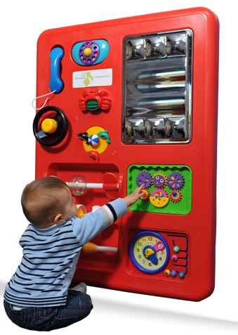 Red Plastic Play Panel Toy