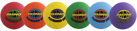 Champion Sports Rhino Max Playground Balls - Set of 6