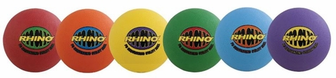 Rhino Max Playground Sequencing Utility Balls - Set of 6 - Free Shipping