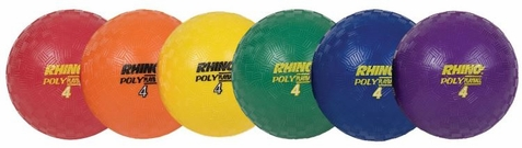 Champion Sports Rhino Poly Playground Balls - Set of 6