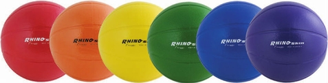 "Champion Sports Rhino Skin 9"" High Bounce Foam Basketballs - Set of 6"