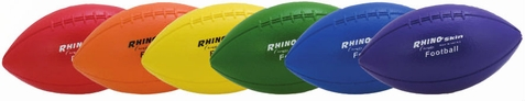 Champion Sports Rhino Skin Foam Football - Set of 6