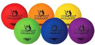 Champion Sports Rhino Skin Pebble-Tek Soccer Ball - Set of 6