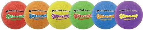 Champion Sports Rhino Skin Super Squeeze Playground Balls - Set of 6