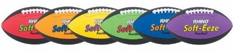 Champion Sports Rhino Soft-eeze Football - Set of 6