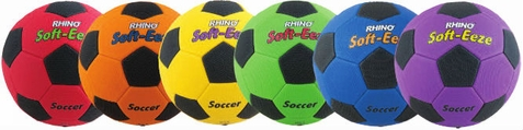 Champion Sports Rhino Soft-eeze Soccer Ball - Set of 6