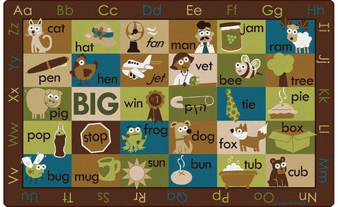 Rhyme Time Seating Rug Nature Colors 7'6 x 12'