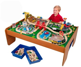 KidKraft Ride Around Town Train Table Set