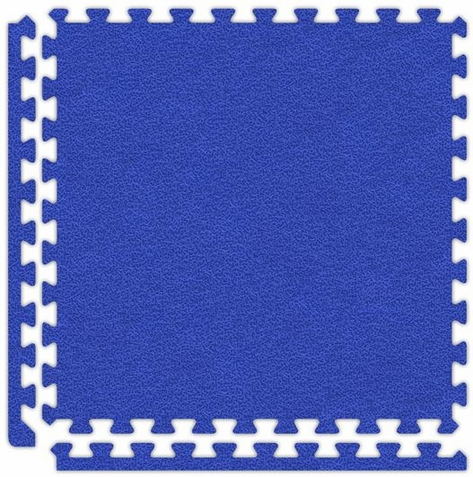 Royal Blue Interlocking Soft Touch Floor Mat - Free Shipping