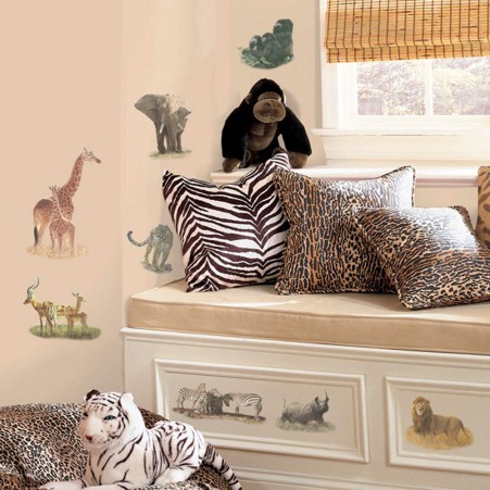 Safari Peel & Stick Wall Decals
