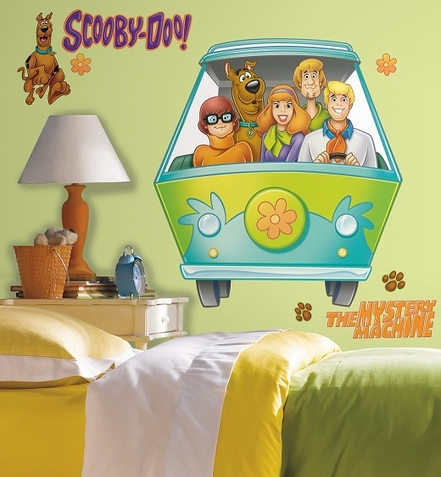 Scooby Doo Mystery Machine Peel & Stick Giant Wall Decal