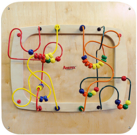Anatex Sculpture Bead Maze Wall Panel Toy