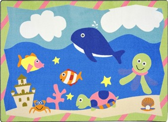 Sea Babies Area Rug 7'8 x 10'9 Rectangle