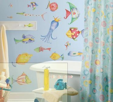 Sea Creatures Peel & Stick Appliques - Free Shipping