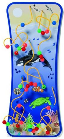 Seascape Wire Bead Maze Wall Toy