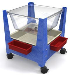 ChildBrite See All Sand & Water Sensory Table with Casters