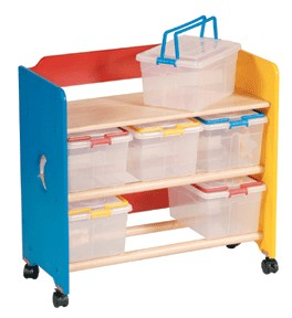 See, Store and Take Along Storage Cart