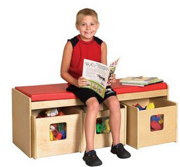 ECR4Kids See & Store Birch Bench