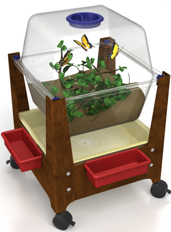ChildBrite See Through Science/Habitat Table with Casters