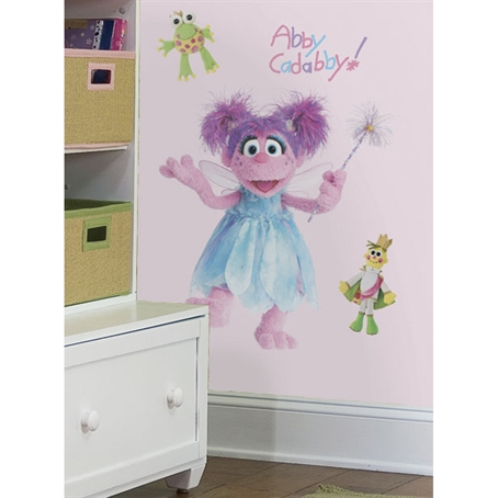 Sesame Street Abby Peel & Stick Giant Wall Decal