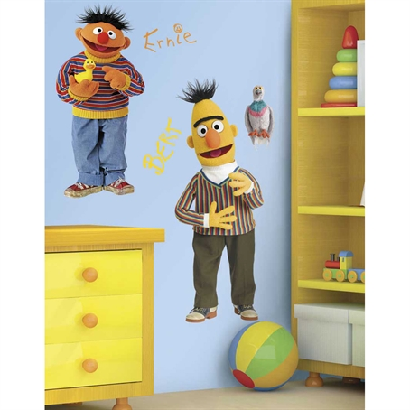 Sesame Street Burt & Ernie Peel & Stick Giant Wall Decal