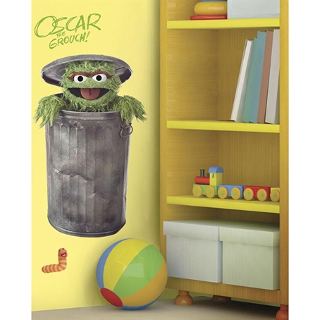 Sesame Street Oscar Peel & Stick Giant Wall Decal