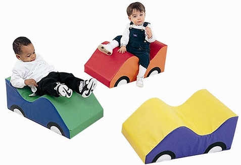 Set of 3 Infant Toddler Soft Cars by