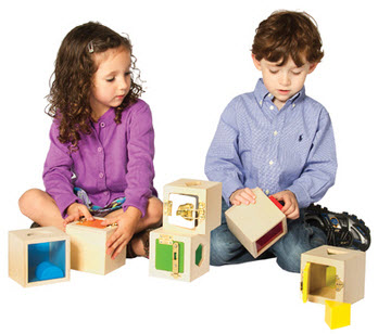 Set of 6 Peekaboo Lock Boxes