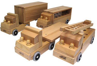 ECR4Kids Set of Four Transportation Vehicle Toys