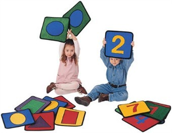 Shapes and Numbers Rug Set
