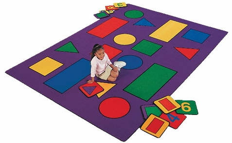 Shapes Classroom Rug Factory Second 8'4 x 11'8