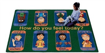 Signs of Emotion Classroom Carpet 5'4 x 7'8