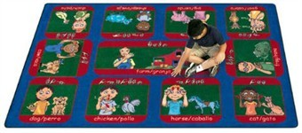 Signs on the Farm Educational Rug 5'4 x 7'8