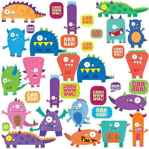 Silly Monsters Wall Stickers