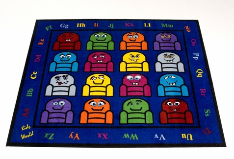 Silly Seats Classroom Rug 8' x 10'