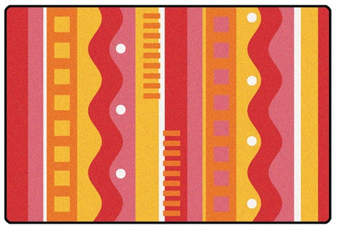 Silly Stripes Toddler Rug Factory Second 6' x 9'