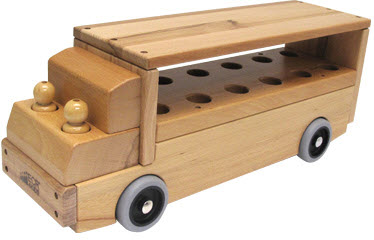 ECR4Kids Single Decker Bus Transportation Vehicle Toy