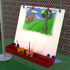 ChildBrite Single Fence Easel for Kids