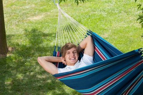 Single Hammock Currambera Blueberry - Free Shipping