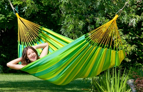 La Siesta Single Hammock Sonrisa Lime