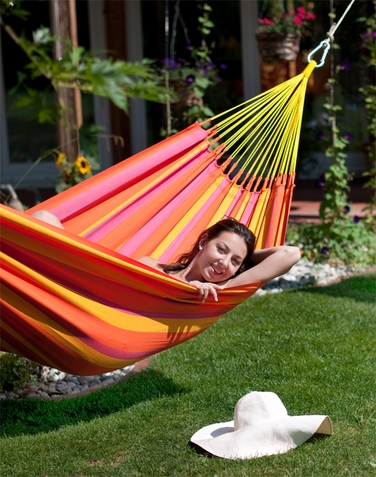 Single Hammock Sonrisa Mandarine - Free Shipping