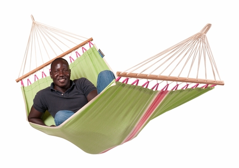 La Siesta Single Hammock with Spreader Bars Fruta Kiwi